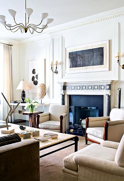 Фото дизайна гостиной в стиле классицизма