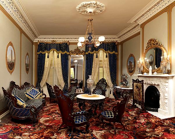 фото гостиной в стиле Рококо