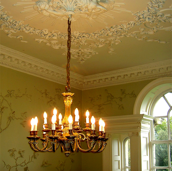 фото стен и потолка в стиле Рококо