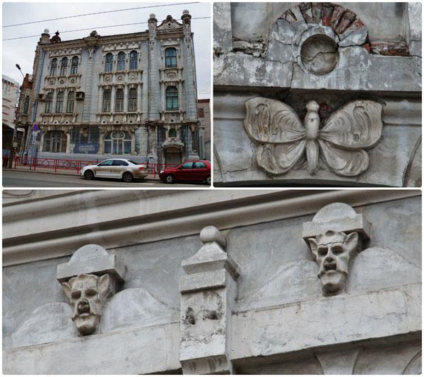 Необычная лепнина на фасадах домов