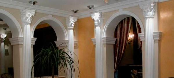 Гипсовые колонны как элемент архитектурного декора