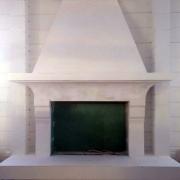 480; Гипсовый камин в интерьере