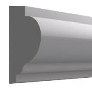 Высота по стене: 60 мм.;  Ширина: 25 мм. ;  Цена: 340,00 руб.