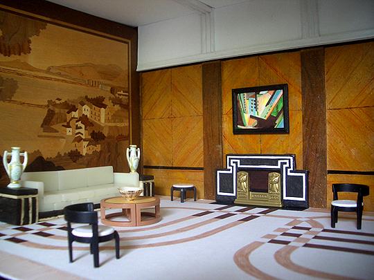 фото гостиной в стиле Арт-Деко