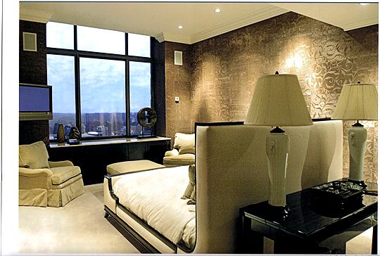 фото дизайна интерьера спальни в стиле Арт-Деко
