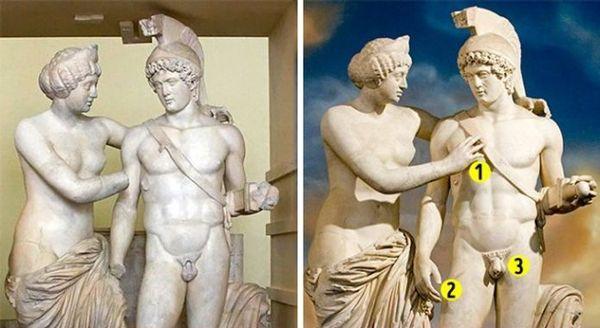 Попытка доделать старинные скульптуры не получила одобрения