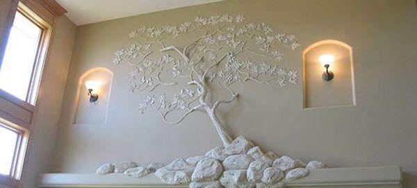 Оригинальные идеи рельефной лепки на стенах