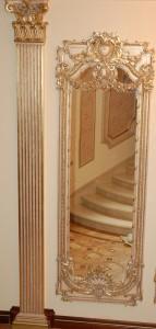Фото декорирования зеркала и колонны