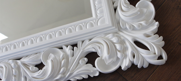Как восстановить старинную гипсовую раму для зеркала