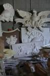 Модели из гипса - панно, гербы, барильефы