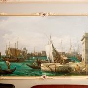 362; Декоративная роспись, зеркало